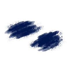 blue watercolor brush on white background vector image
