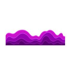 Bright purple music waves vector