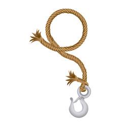 Brown rope break hook icon vector
