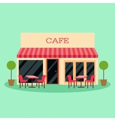 Building restaurant and vector