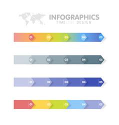 Business infographics template set timeline vector