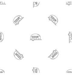 camp trailer pattern seamless vector image
