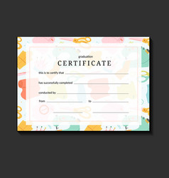 Certificate layout for sewing or crafts course vector