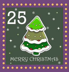 Christmas advent calendar for kids vector