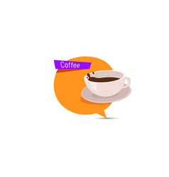 coffee banner design with a cup vector image