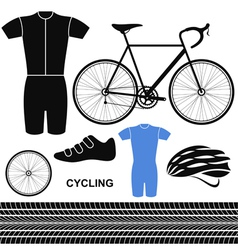 Cycling Set vector