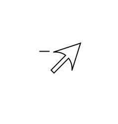delete cursor icon vector image