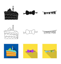 Design of party and birthday sign vector