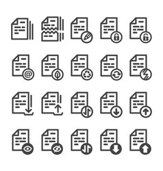 document line icon vector image