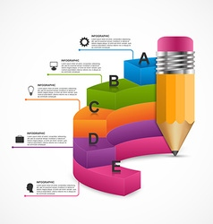 Education Infographics design template vector image