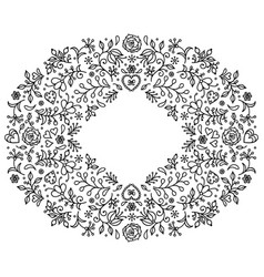 floral hand drawn frame vector image