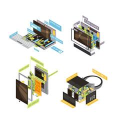Gadgets scheme composition set vector