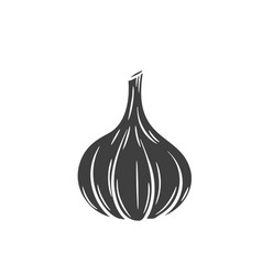 Garlic glyph icon vector