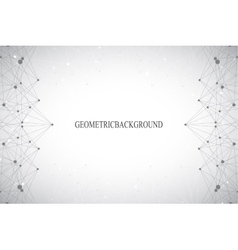 Geometric abstract grey background with connected vector