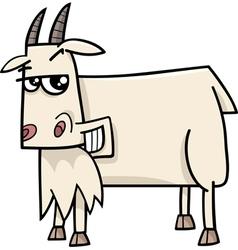 Goat farm animal cartoon vector