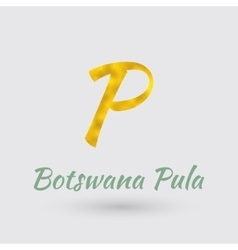 Golden Symbol of the Botswana Pula vector