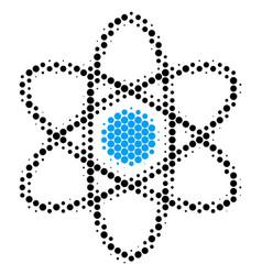 Halftone dot atom icon vector