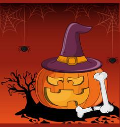 Halloween scary cartoons vector