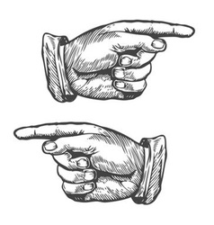 Hands pointing to left and right vector