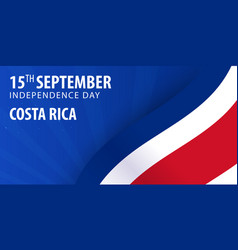 Independence day of costa rica flag and patriotic vector