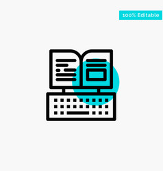 Key keyboard book facebook turquoise highlight vector