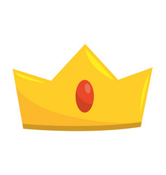king crown cartoon vector image