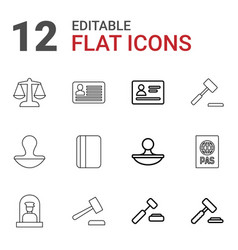 Legal icons vector