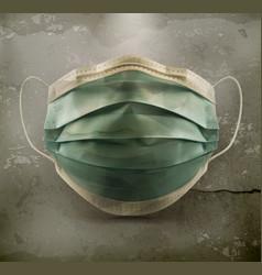 Medical mask surgical mask on grunge background vector
