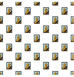 Memory portrait pattern seamless vector