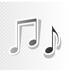 Music notes sign new year blackish icon vector