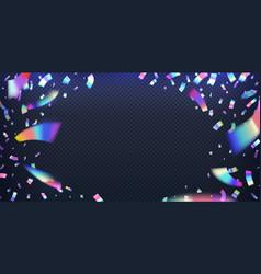 neon foil glitter metal foil effect hologram vector image