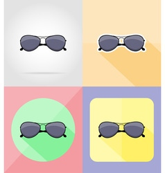 objects for recreation a beach flat icons 16 vector image vector image
