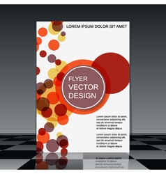 Professional flyer design template vector image