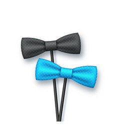 Realistic bow tie on sticks vector
