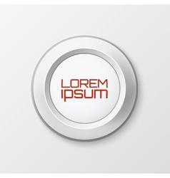 Realistic button icon vector image