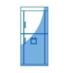 refrigerador appliance dispenser kitchen design vector image