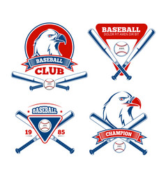 Retro baseball sports badges for boys vector