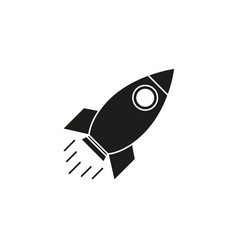 rocket of icon black vector image