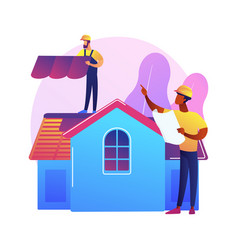 Roofing services abstract concept vector