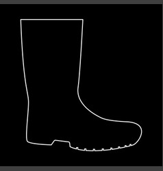 Rubber boots white color path icon vector