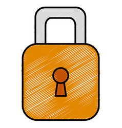 Safe secure padlock icon vector