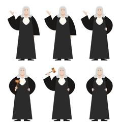 set judges vector image