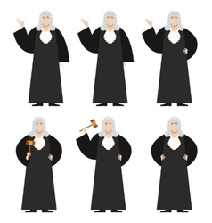 Set of Judges vector
