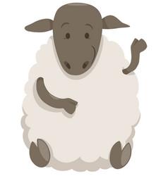 Sheep cartoon farm animal vector