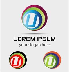 Sign letter U Letter U logo vector