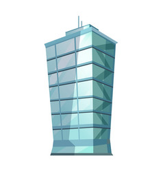 Skyscraper glass building isolated on white vector