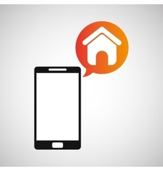 Smartphone and homepage application vector