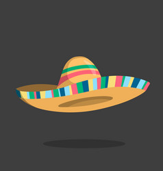 Sombrero icon mexican isolated hat cartoon cap vector