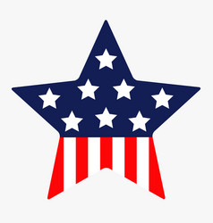 star shape american flag stars and strips icon vector image
