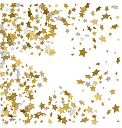 stars confetti frame of yellow shiny little stars vector image